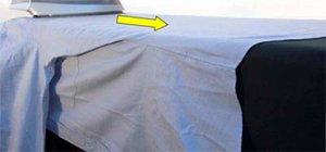 Пример глажения сорочки