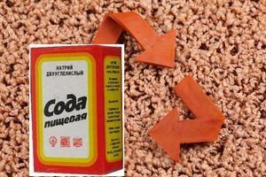 Пищевая сода также может помочь при чистке ковра.