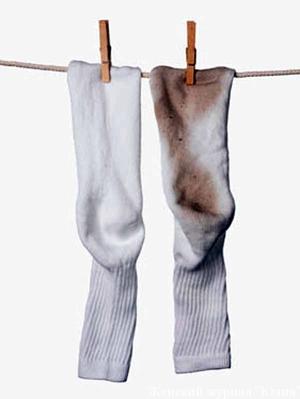 Как отстирать носки от грязи в домашних условиях